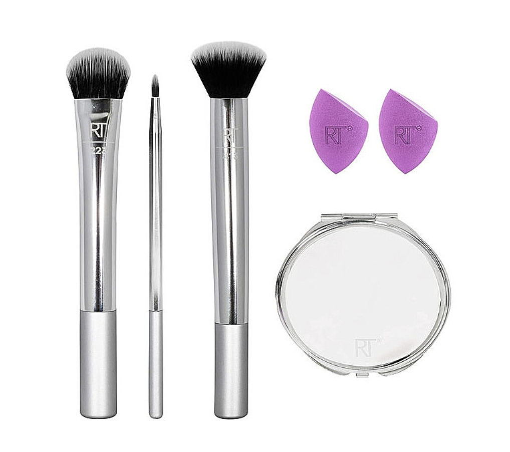 Набор, Real Techniques Poppin' Perfection Brush (brush/2pcs + spong/2pcs + mirror)
