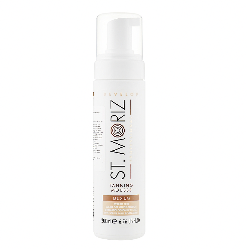 Мусс-автозагар (средний), St.Moriz Instant Self Tanning Mousse Medium