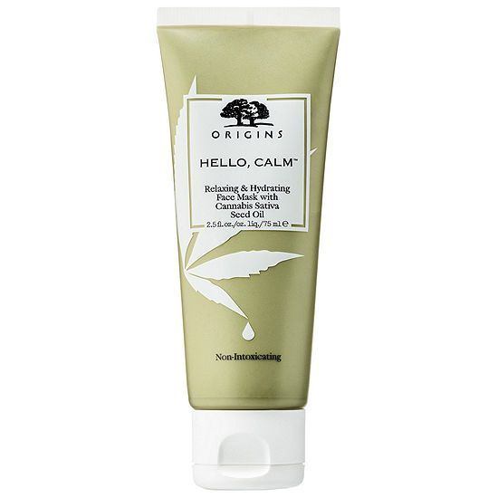 Ультра-увлажняющая релакс маска, Origins Hello, Calm Relaxing & Hydrating Face Mask with Cannabis Sativa Seed Oil