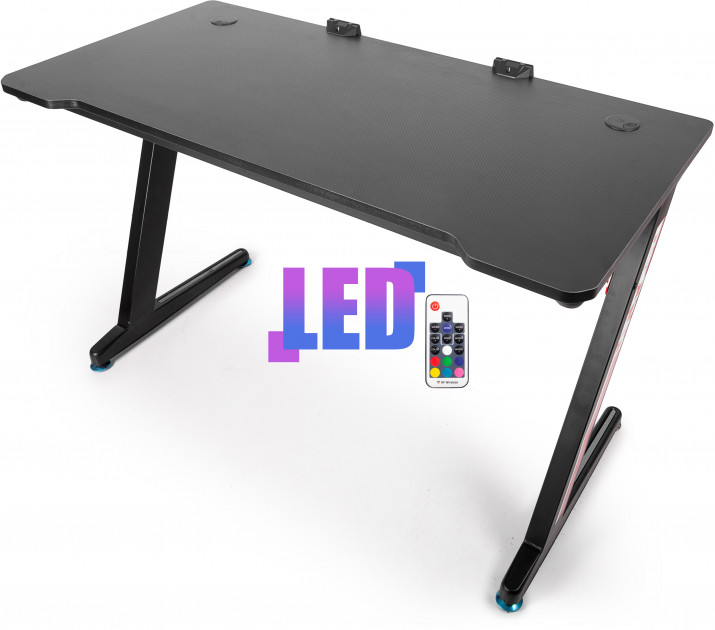 Компьютерный стол Barsky E-Sports BES-01 RGB-LED Black